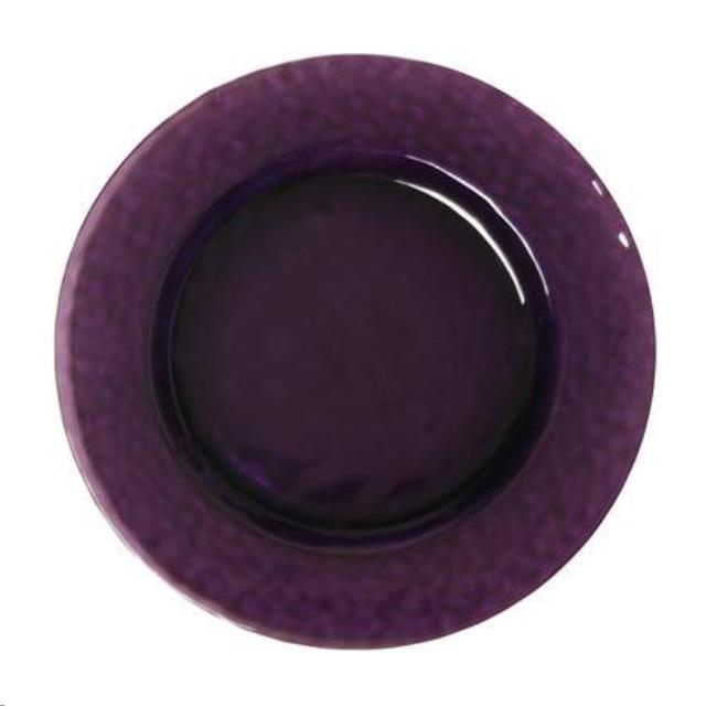 Charger Amethyst Glass 12 Inch Rentals Charlottesville Va